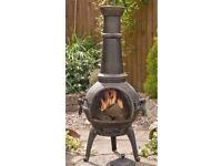 Patio Heater - Chiminea - Patio - Garden - Log burner - wood burning - chimney- Black