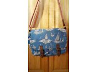 Cath Kidston Canvas Saddle Bag