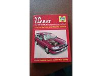 Haynes Manual. VW Passat May 1988 to 1996 (E to P registration) Petrol & diesel.