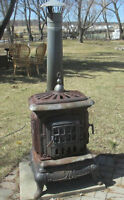 Antique Wood burning stove for outdoors