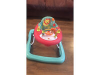 WALKER - Bright Starts Roaming Safari Walk-a-bout toddler baby child bouncer chair