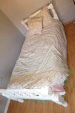White single bed with trundle + FREE quilt cover Liverpool Liverpool Area Preview