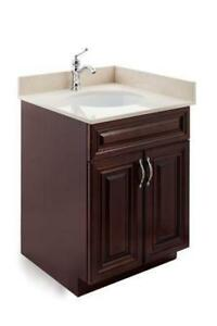 Vanite salle de bain 24'' en bois massif , Grande SOLDE
