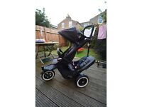 Phil & Teds Dot double pram with accessories black/Flint