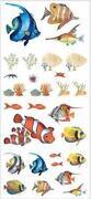 Wandtattoo Unterwasserwelt