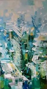 "52″ x 28″ Original Oil Painting "" Morning City """