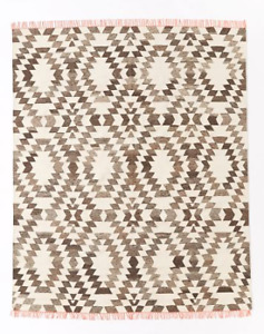 New Wool Chenille Palmette Area Rug, 8X10, FOR SALE