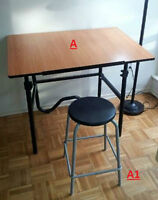Selling Drafting Table, Stool & Accessories
