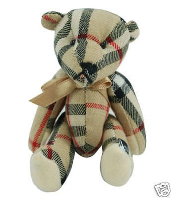 - Hand-made Tartan Mini Teddy Bear Collection (Ivory)
