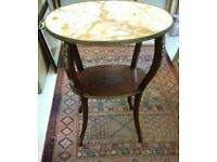 Marble top etargere/ occasional table