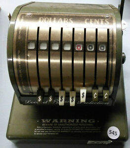 Vintage Cheque Writing Machine