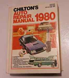 Chilton's auto repair manual = American cars from 1973 - 1980