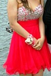 Deep Pink Junior High Prom Dress