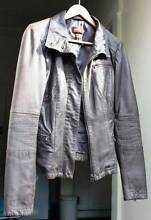 Women's edgy grey leather jacket Coogee Eastern Suburbs Preview