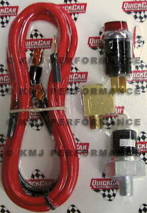 QuickCar 61-711 Oil Pressure Warning Light Kit w/ Wiring & Switch IMCA Sportmod