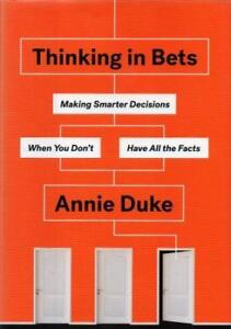 Annie Duke-Thinking In Bets-Hardcover