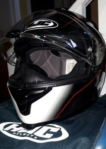Men's motorcycle helmet with bluetooth size large