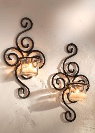 wandkerzenhalter schwarz kerzenst nder teelichthalter. Black Bedroom Furniture Sets. Home Design Ideas