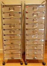 10 Drawer Chrome Trolley - Filing or Storage Canning Vale Canning Area Preview