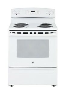 GE Electric Self Cleaning Range - White on White