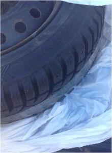 "4 - 14"" winter tires on rims  Kitchener / Waterloo Kitchener Area image 1"
