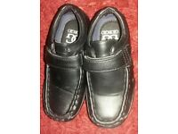 Boys black georgio school shoes infant size 8
