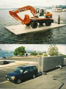 Myark self trailer folding pontoon's