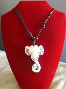 Adjustable Leather Thong Elephant Pendant - Free Postage in Aust. Balaklava Wakefield Area Preview