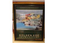 """Golden Age of Transport"" poster - Tiger Moth Byplane flying over Leeds Castle - £15.00"