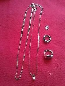 Silver Rings and Necklaces