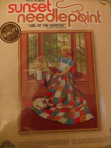 "Sunset Needlepoint ""Girl At the Window"" London Ontario image 1"