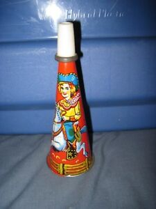 Vintage Antique Tin Cowgirl Horn London Ontario image 1