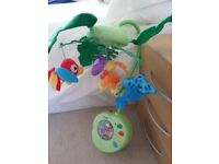 Cot Musical Mobile Fisher Price Peek a Boo Rain Forest (Boxed)