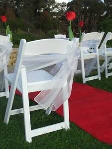 Organza Chair Sashes for Wedding Ceremony Function Reception Deco Bassendean Bassendean Area Preview