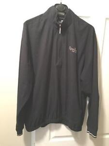 4 New Xlg Mens Jackets and 1 New Ashworth Golf Shirt Xlg,