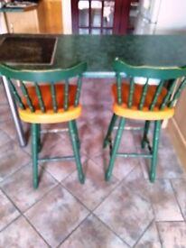 2 Breakfast bat stools