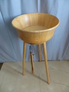Wooden Salad Bowl with Stand