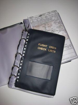 NEW Flight Crew Checklist Binder Military 25 (Binder Flight)
