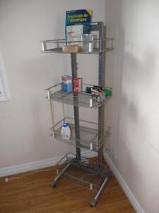 New Powder Coated 3 Shelf Wire & Tube Display Merchandiser Rack
