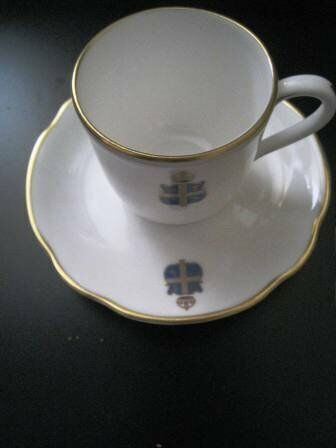 Retro Vintage Royal Worcester Royal Tea Cup & Saucer for Claridges