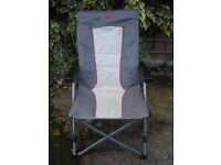 Two Crusader Globetrotter folding chairs for sale.