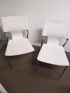 Chairs white leather Sydney City Inner Sydney Preview