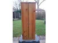 Pine wooden bathroom cabinet