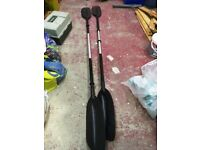 2 x basic kayak paddles with rubber drip rings