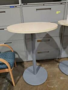 Round Café Table, birch color