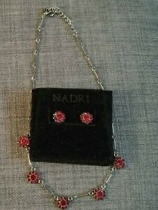 nadri earrings and matching chocker