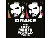 Drake The Boy Meets World UK Tour Barclay Card Arena Birmingham Standing Tickets x4