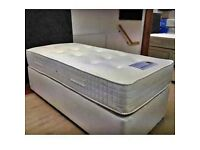 New Single Divan Bed Base & Quality Mattress