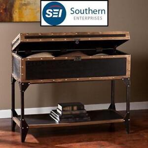 NEW* TRUNK CONSOLE/STORAGE TABLE CK3183 139306712 SOUTHERN ENTERPRISES DRIFTON ANTIQUE BLACK