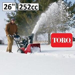 """OB TORO POWER MAX 826 SNOW BLOWER 37797 206451655 26"""" GAS ELECTRIC START TWO-STAGE SNOWBLOWER OPEN BOX"""